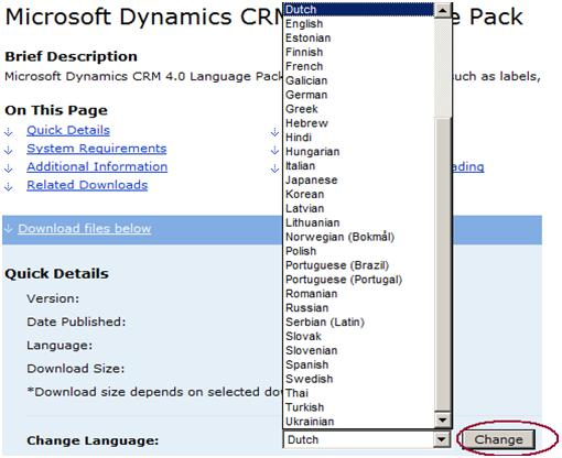 CRM Language Pack
