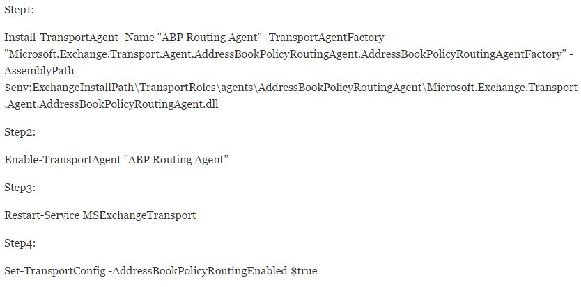 ABP Routing Agent Commands