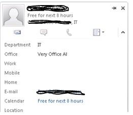 Sender Contact Card